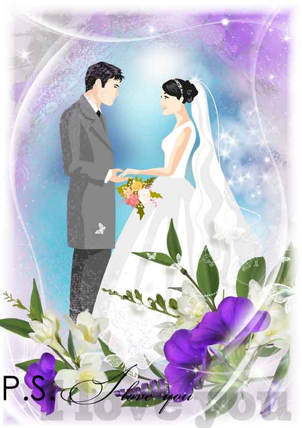 فون لایه باز عروس و داماد بسیار زیبا