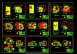 دانلود نقشه معماری اتوکد ویلایی تریبلکس